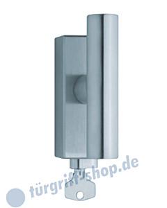 1010 (Cross) Fenstergriff abschließbar, eckige Olive, Edelstahl matt o. poliert Scoop