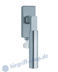 1016 (Bauhaus) Fenstergriff abschließbar, eckige Olive, Edelstahl o. PVD Messing-poliert Scoop