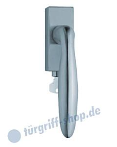 1083 (Sara) Fenstergriff abschließbar, eckige Olive, Edelstahl o. PVD Messing-poliert Scoop