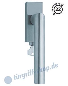 2106 Fenstergriff abschließbar, eckige Olive, Edelstahl o. PVD Messing-poliert Scoop