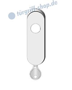 Abschließbares Gehäuse oval für Fenstergriffe von Karcher RC 2 zertifiziert, 4 Farben und 3 Stiftlängen