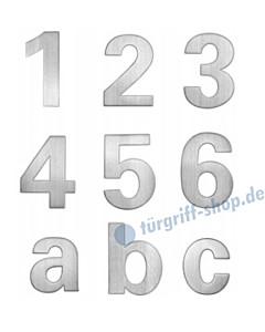 Edelstahl-Hausnummer und Buchstabe modern | Höhe 150 bzw. 115 mm von Lienbacher