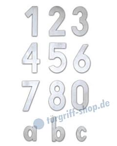Edelstahl-Hausnummer und Buchstabe modern | Höhe 120 bzw. 60 mm von Lienbacher