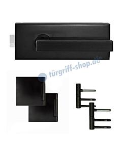 Glastürschloss-Set EGS360Q inkl. Bänder und Griffpaar Kosmos schwarz Karcher