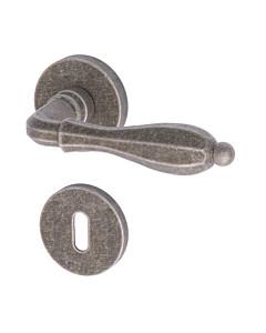 Epoca Rosettengarnitur Messing Antik Silbergrau Reguitti