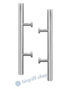 Stoßgriffpaar ES4P für Glastüren inkl. Befestigungsset Edelstahl matt Karcher Design