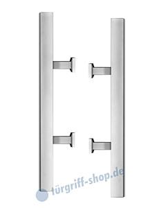 Stoßgriffpaar ES5P für Glastüren inkl. Befestigungsset Edelstahl matt von Karcher Design