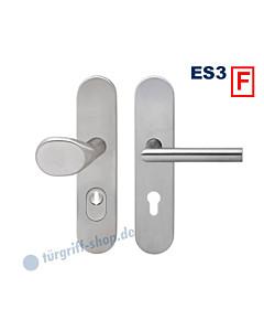 Feuerschutz-Schutzgarnitur ESG685KF Knopf/Drücker Rhodos, KZS, ES3, Edelstahl matt Karcher Design