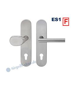 Feuerschutz-Schutzgarnitur ESG675F Knopf/Drücker nach Wahl, ES1, Edelstahl matt Karcher Design