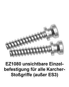 Befestigungsset EZ1080 einseitig unsichtbare Einzelbefestigung auf Holz- ,Rahmen- oder Kunststofftür (nicht für ES3) von Karcher