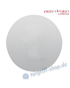 Rosette EZ 180 Plan Design 3 mm ohne Lochung (blind) Edelstahl matt von Karcher