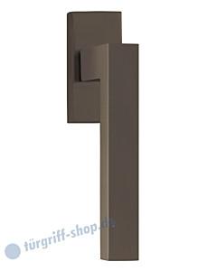 8040 Fenstergriff auf eckiger Rosette in Titanium Dunkelgrau von Scoop