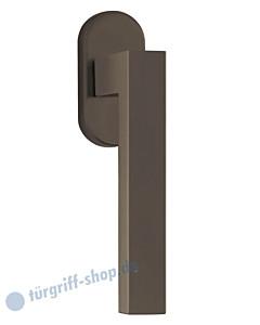 8040 Fenstergriff auf Ovalrosette in Titanium Dunkelgrau von Scoop