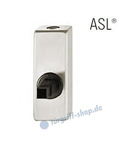 Fenstergriff-Rosette ASL® abschließbar, mit Schließzylinder, eckig in Alu natureloxiert FSB
