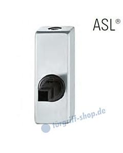 Fenstergriff-Rosette ASL® abschließbar, mit Schließzylinder, eckig in Edelstahl feinmatt FSB
