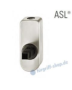 Fenstergriff-Rosette ASL® abschließbar, mit Schließzylinder, oval in Alu natureloxiert FSB