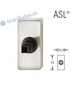Fenstergriff-Rosette ASL® eckige Rosette 32,5x70mm   nicht abschließbar   Alu naturfarbig eloxiert von FSB