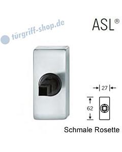 Fenstergriff-Rosette ASL® schmale eckige Rosette 27x62mm   nicht abschließbar   Edelstahl feinmatt von FSB