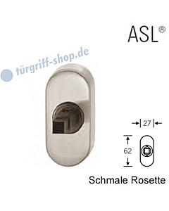 Fenstergriff-Rosette ASL® schmale ovale Rosette 27x62mm   nicht abschließbar   Alu naturfarbig eloxiert von FSB