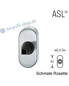 Fenstergriff-Rosette ASL® schmale ovale Rosette 27x62mm   nicht abschließbar   Edelstahl feinmatt von FSB