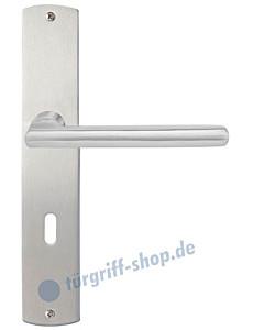 Forli Langschildgarnitur Nickel matt/Edelstahl matt Griffwelt