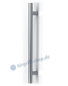 Frankfurt Stoßgriff Stangenform, gerade Stützen, in 5 Längen Edelstahl matt von Schröder Türgriffe