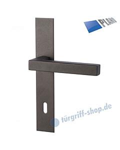 Galina II Square-LS PLANO Langschildgarnitur Schwarzstahl-Optik Südmetall