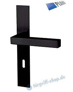 Galina II Square-LS PLANO Langschildgarnitur Schwarz matt Südmetall