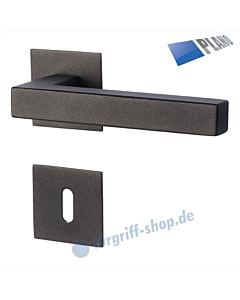 Galina II Square-R PLANO Rosettengarnitur Schwarzstahl-Optik Südmetall