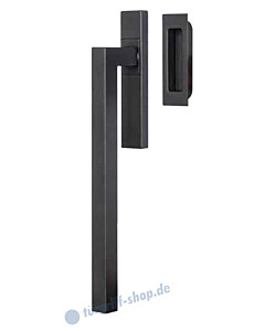 Galina Square Hebe-/ Schiebetürbeschlag in Schwarzstahl-Optik von Südmetall