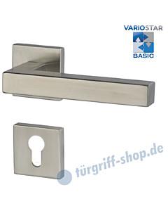 Galina Square-R quadrat. Rosetten-Halbgarnitur für Haustüren, Basic, Profilzylinder, 8 mm, GK3, Edelstahl-matt Südmetall