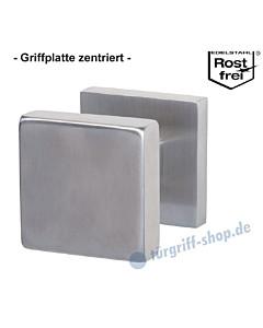 Griffplatte Square auf quadratischer Rosette zentriert, feststehend aus Edelstahl matt von Südmetall