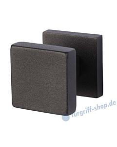 Griffplatte Square auf Rosette zentriert, feststehend Schwarzstahl-Optik von Südmetall