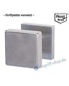 Griffplatte Square auf quadratischer Rosette versetzt, feststehend aus Edelstahl matt von Südmetall
