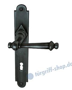 Hallein II-LS Langschildgarnitur Stahl geschwärzt-matt Südmetall