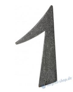 Hausnummern und Buchstaben glatt schwarz passiviert von Halcö