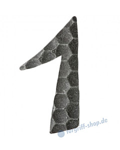 Hausnummern und Buchstaben vollgehämmert schwarz passiviert von Halcö