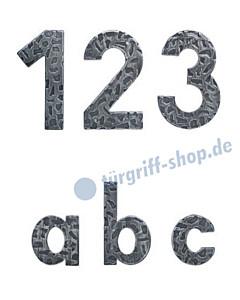 Hausnummer und Buchstabe Schmiedeeisen | Höhe 120 bzw. 60 mm von Lienbacher