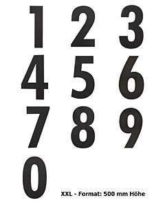 Hausnummer XXL modern Höhe 500 mm aus Edelstahl in Schwarz matt von Intersteel