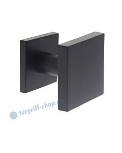Haustürknopf quadratisch feststehend mittig 64 x 64 mm mit durchgehender Befestigung M8 schwarz matt von Intersteel