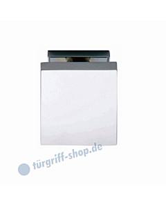 Haustürknopf quadratisch feststehend mittig 65 x 65 mm mit durchgehender Befestigung M8 Chrom von Intersteel