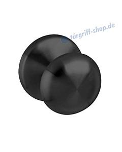 Haustürknopf Pilz feststehend Ø 58 mm, mit einseitiger Befestigung, schwarz matt von Intersteel