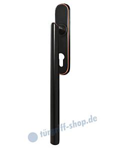Hebe-/Schiebetürgriff EHS28 PZ für innen, PZ 69 mm, Vierkant 10/9 mm, Antik Bronze Optik von Karcher Design