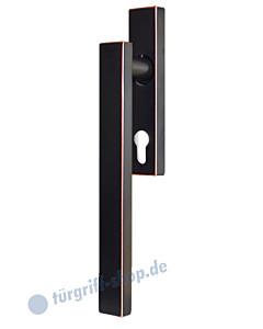 Hebe-/Schiebetürgriff EHS52Q PZ für innen, PZ 69 mm, Vierkant 10/9 mm, Antik Bronze Optik Karcher Design