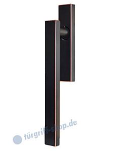 Hebe-/Schiebetürgriff EHS52Q UN für innen, ungelocht, Vierkant 10/9 mm, Antik Bronze Optik Karcher Design