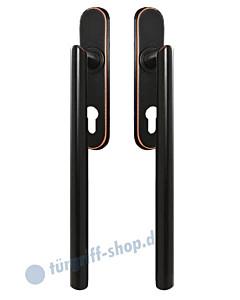 Hebe-/Schiebetürgriff-Set EHSSET28 DD für Terrassentür, PZ 69 mm, Vierkantstift 10/9 mm, Antik Bronze Optik von Karcher Design