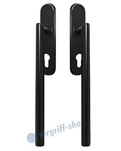 Hebe-/Schiebetürgriff-Set EHSSET28 DD für Terrassentür, PZ 69 mm, Vierkantstift 10/9 mm, Kosmos schwarz von Karcher Design