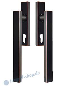 Hebe-/Schiebetürgriff-Set EHSSET52Q DD für Terrassentür, PZ 69 mm, Vierkantstift 10/9 mm, Antik Bronze Optik Karcher Design