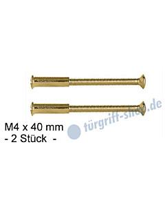 Hülsenschrauben -2 Stück- M4 x 40 mm, Messing-poliert von Lienbacher
