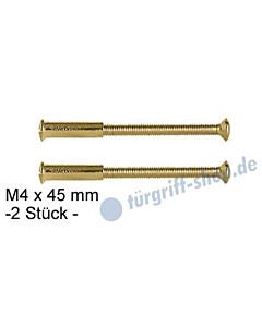 Hülsenschrauben -2 Stück- M4 x 45 mm, Messing-poliert von Lienbacher
